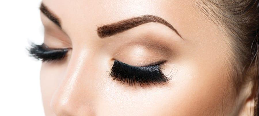 45680276 - woman eye with long eyelashes. eyelash extension